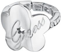 Damen-Ring Edelstahl rhodiniert Kristall Zirkonia weiß