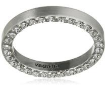 Damen-Ring Affection Versilbert Kristall transparent Rundschliff