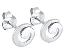 Elli Damen-Ohrstecker, Spirale 925 Sterling Silber 3200018