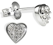 Damen-Ohrstecker Herz Glamour 585 Weißgold 23 Brillanten 0,25ct  Herz-Ohrringe