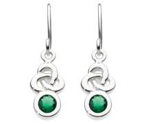 Damen-Ohrhänger Sterling-Silber 925 Smaragd 5235GG