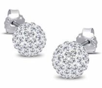 Damen-Ohrstecker Klassik 925 Sterling Silber mit Kristallen von Swarovski 03201248