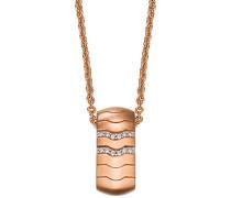Damen Halskette 925 Sterling Silber rhodiniert Glas Zirkonia Réalisme 42 cm weiß S.PCNL90452C420
