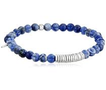 Armband Halbedelstein, Sodalith, Sterling-Silber 925, Blau, 17,5 cm