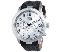 Cerruti 1881 Herren-Armbanduhr VOLTERRA Analog Quarz Leder CRA104SN04BK