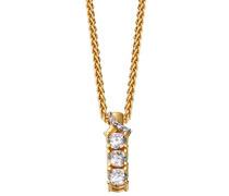 Damen Halskette 925 Sterling Silber rhodiniert Glas Zirkonia L'Esthétisme Symphonie 42 cm weiß S.PCNL90459B420