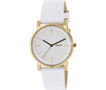 DKNY Damen-Armbanduhr Digital Quarz Leder NY2340