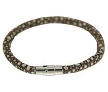 Damen-Armband Ombeline silber/braun gepunktet 00756