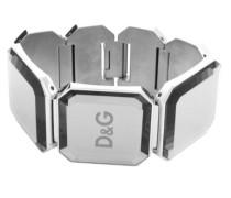 Dolce Gabbana DJ0788 &Damen-Armband Edelstahl, 19 cm