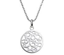 ZEEme Damen-Anhänger mit Kette Motiv Kreise Sterne Silver 299240063-45