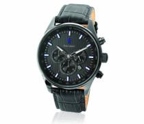 Herren-Armbanduhr Analog Quarz Leder 260D489