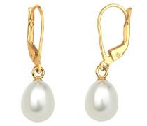 Goldhimmel Damen-Ohrhänger 925 Silber    Süßwasser-Zuchtperle Weiß - 0311780414