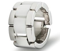 Damen-Ring Edelstahl antiallergen Keramik wei 13 mm