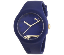 Puma Time Damen-Armbanduhr PU-FORM BLUEBERRY GOLD Analog Quarz Silikon PU103001016