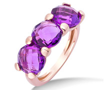 Damen-Ring 9 Karat (375) Rosegold Amethyst 4.5 ct Größe 58 MNA9001R58