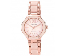 Women'- Armbanduhr Analog Kunststoff Pink/AK N1148RGLP Armband