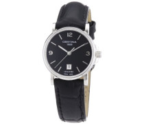 Damen-Armbanduhr XS Analog Quarz Leder C017.210.16.057.00