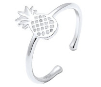Damen Ring Ananas Sommer Statement 925 Sterling Silber 0601670517