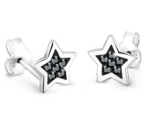 Damen Schmuck Ohrringe Ohrstecker Stern Astro Trend Himmel Blogger Silber 925 Swarovski Kristalle