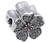 Damen-Charm Pavé Apfelblüte 925 Silber Kristall pink-791831NBP