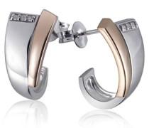 Goldmaid Damen-Ohrstecker 925 Sterlingsilber Bicolor 6 Diamanten (0.05 ct)