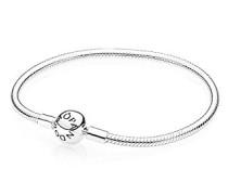 Damen-Armband mit Kugelverschluss, glatt 925 Silber 17 cm-590728-17