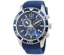Nautica Herren-Armbanduhr XL Analog Quarz Silikon A15103G