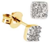 Damen-Ohrstecker 18 Karat 750 Gelbgold Glamourfassung 18 Diamanten 0,25 ct. Pa O3630GG750 Ohrringe Brillanten Schmuck
