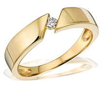 Damen-Ring 585 Gelbgold1 Brillant