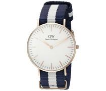Damen-Armbanduhr Glasgow Analog Quarz Nylon DW00100031