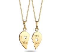 Damen Halskette Silber vergoldet 45 cm 0108521811