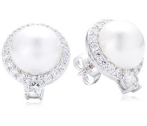 Diamonfire Damen-Ohrstecker 925 Sterling Silber Zirkonia Pearls Linie weiß 62/1536/1/111