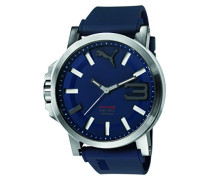 Herren Armbanduhr Datum klassisch Quarz Silikon PU103911003