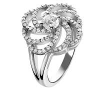 Damen-Ring 925 Sterling Silber Zirkonia wei