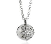 Dyrberg/Kern Damen Halskette Versilbertes Metall Kristall Swarovski 336130