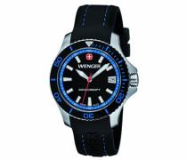Wenger Damen-Armbanduhr Seaforce Analog Quarz Silikon 01.0621.102