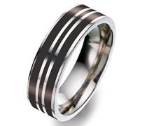 Unisex -Ehe, Verlobungs & Partnerringe Ringgröße 60 (19.1) - OR51393BC/60
