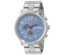 Orbz Men'Automatik Armbanduhr mit blauem Zifferblatt Analog-Anzeige und Silber-Edelstahl-Armband HP .1.1503 .6065 m