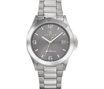 –615209–Zeigt Herren-Armbanduhr 1076312Analog Metall Silber