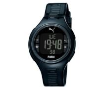 Herren-Armbanduhr XL Pulse Metallic Digital Quarz Silikon PU910541006