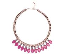 Halskette Emari Acrylstein 52 cm Tropfenform Pink