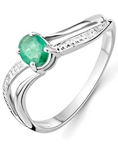 Damen-Ring 375 weißgold mit Emerald MA938RR