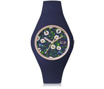 ICE flower Daisy - Blaue Damenuhr mit Silikonarmband - 001441 (Small)