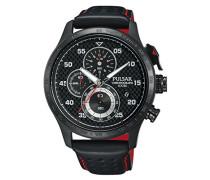 Pulsar Herren-Armbanduhr WRC Chronograph Quarz Leder PM3043X1