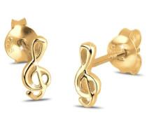 Damen Ohrringe 925 Sterling Silber vergoldet 0305740311