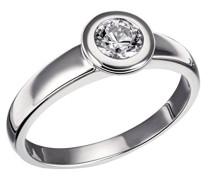 Damen-Ring Eternity 925 Sterlingsilber 1 klarer Zirkonia