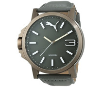 Puma Herren-Armbanduhr XL Ultrasize Analog Quarz Leder PU103461004
