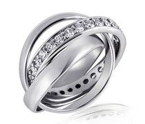 Goldmaid Damen-Ring Memoire 925 Sterlingsilber 3 in 1 Gr. 60 Me R643S60