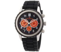 Herren-Armbanduhr XL Chronograph Quarz Silikon 5410203