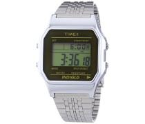 Unisex-Armbanduhr Classic Digital Quarz Edelstahl TW2P58500